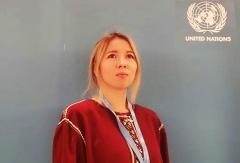 RAIPON активно готовит молодежь. Участница «Школы Молодого Лидера RAIPON» выступает на сессии Экспертного механизма ООН