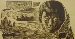 Сегодня исполнилось бы 80 лет первому нганасанскому художнику Мотюмяку Турдагину